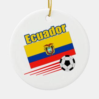 エクアドルのサッカーチーム セラミックオーナメント