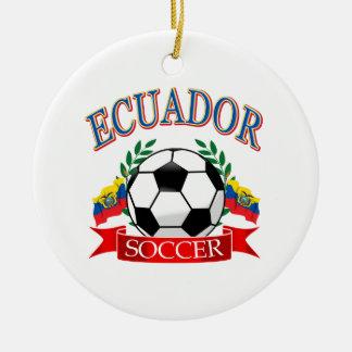 エクアドルのサッカーボールのデザイン セラミックオーナメント