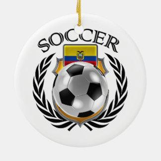 エクアドルのサッカー2016ファンのギア セラミックオーナメント