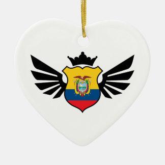 エクアドルのサッカー セラミックオーナメント