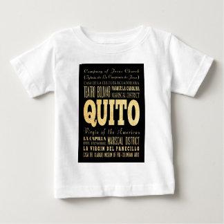 エクアドルのタイポグラフィの芸術のキト都市 ベビーTシャツ