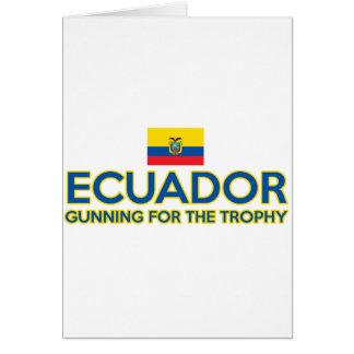 エクアドルのデザイン カード