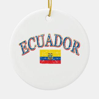 エクアドルのフットボールのデザイン セラミックオーナメント