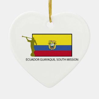 エクアドルの南代表団LDS CTR セラミックオーナメント