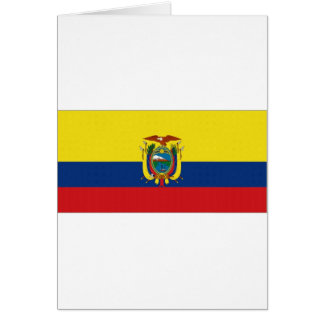 エクアドルの国旗 カード