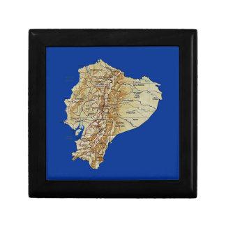 エクアドルの地図のギフト用の箱 ギフトボックス