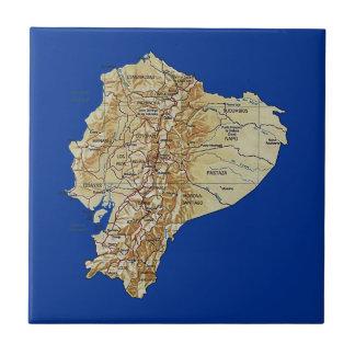 エクアドルの地図のタイル タイル