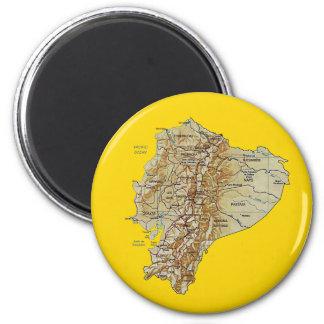 エクアドルの地図の磁石 マグネット