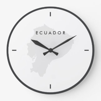 エクアドルの地図 ラージ壁時計