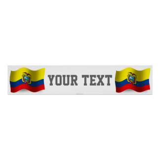 エクアドルの振る旗の旗 ポスター