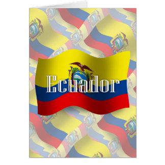 エクアドルの振る旗 カード