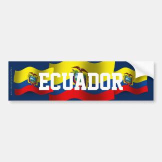 エクアドルの振る旗 バンパーステッカー
