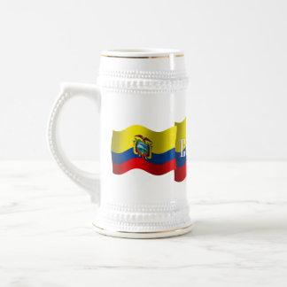 エクアドルの振る旗 ビールジョッキ