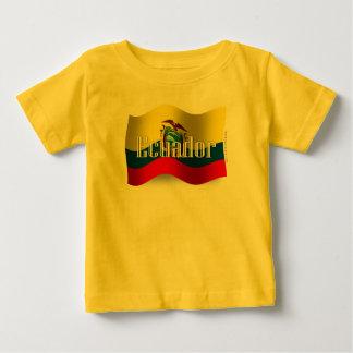 エクアドルの振る旗 ベビーTシャツ