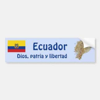 エクアドルの旗および地図のバンパーステッカー バンパーステッカー