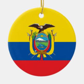 エクアドルの旗のオーナメント セラミックオーナメント