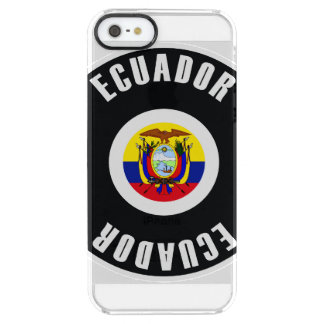 エクアドルの旗のシンプル クリア iPhone SE/5/5sケース