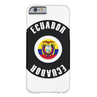 エクアドルの旗のシンプル BARELY THERE iPhone 6 ケース