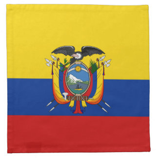 エクアドルの旗のナプキン ナプキンクロス