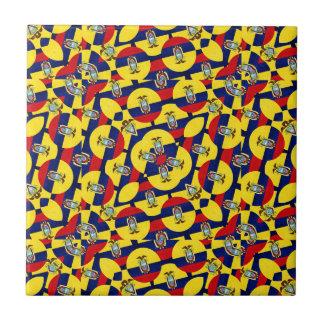 エクアドルの旗のモダンパターン タイル