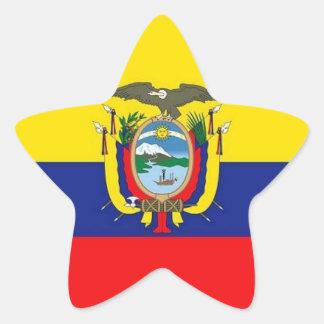 エクアドルの旗の星のステッカー 星シール