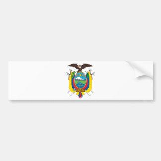 エクアドルの旗欧州共同体 バンパーステッカー