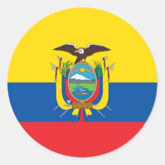 エクアドルの旗欧州共同体 ラウンドシール