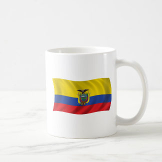 エクアドルの旗 コーヒーマグカップ