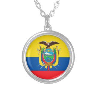 エクアドルの旗 シルバープレートネックレス