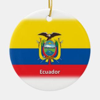 エクアドルの旗 セラミックオーナメント