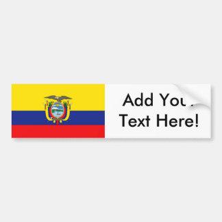 エクアドルの旗 バンパーステッカー