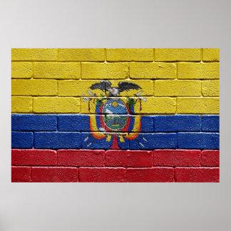 エクアドルの旗 ポスター