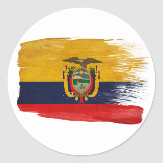 エクアドルの旗 ラウンドシール