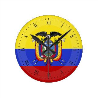 エクアドルの旗 ラウンド壁時計