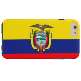 エクアドルの旗 TOUGH iPhone 6 PLUS ケース