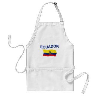 エクアドルの波状の旗 スタンダードエプロン