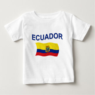 エクアドルの波状の旗 ベビーTシャツ