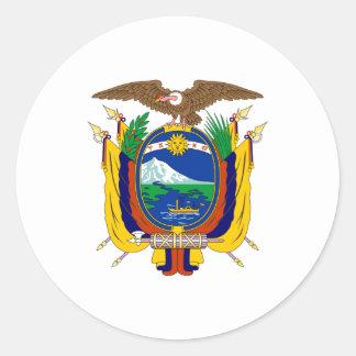 エクアドルの紋章付き外衣 ラウンドシール