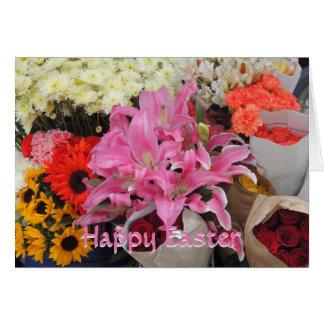 エクアドルの花の広場からの花の花束 カード