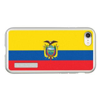 エクアドルの銀製のiPhoneの場合の旗 Incipio DualPro Shine iPhone 8/7ケース