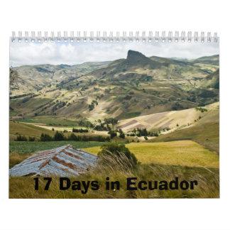 エクアドルの17日 カレンダー