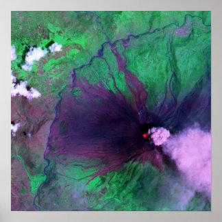 エクアドルのTungurahuaの火山 ポスター
