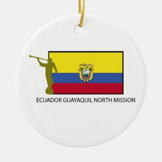 エクアドルグアヤキルの北の代表団CTR LDS セラミックオーナメント