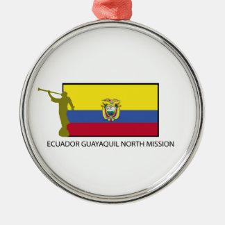 エクアドルグアヤキルの北の代表団CTR LDS メタルオーナメント