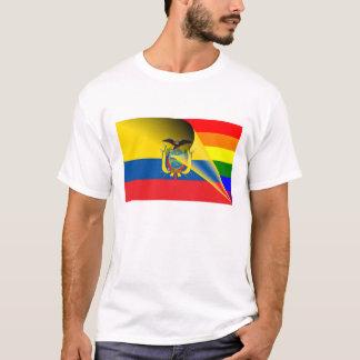 エクアドルゲイプライドの虹の旗 Tシャツ