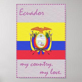 エクアドル私の国私の愛 ポスター