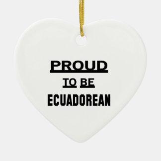 エクアドル語があること誇りを持った セラミックオーナメント