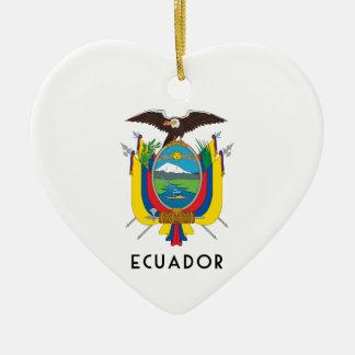 エクアドル-記号か紋章付き外衣か旗または色または紋章 セラミックオーナメント