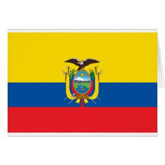 エクアドル- Bandera deエクアドルの旗 カード