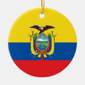 エクアドル- Bandera deエクアドルの旗 セラミックオーナメント